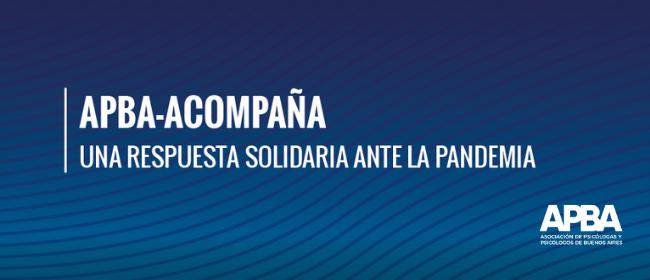 APBA-Acompaña: una respuesta solidaria ante la pandemia